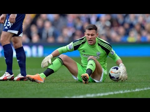 Ben Foster reacts to West Bromwich Albion's 3-0 defeat by Manchester United