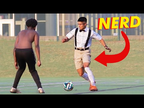 NERD PLAYS SOCCER football ankles broken