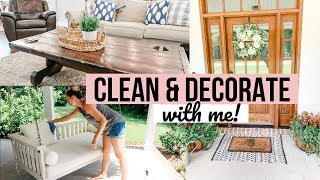 CLEAN AND DECORATE WITH ME 2019 // SUMMER HOUSE TOUR // SUMMER DECORATING IDEAS