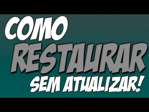 Como restaurar o iPhone/iPod/iPad sem atualizar!