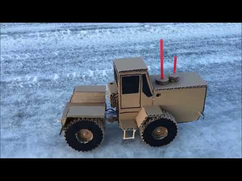 How to Make RC Tractor t-150k From Cardboard at Home