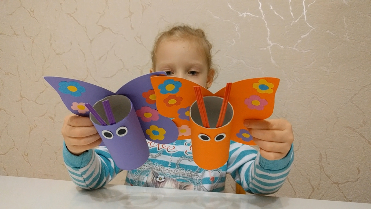 Как сделать с детьми бабочку 825