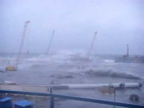 Разрушение олимпийского порта Сочи Часть1.