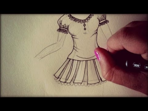 Disegnare abiti e scarpe nelle ragazze manga ❥ How to draw dresses and shoes on Manga Girls