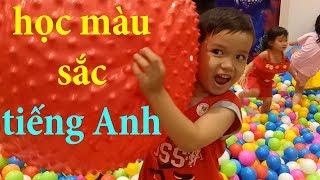 Cùng bé đi chơi nhà banh và học màu sắc tiếng Anh Kênh trẻ em - video cho bé yêu