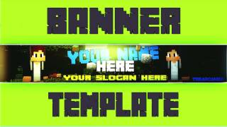 [FREE] Minecraft Banner Template [DOWNLOAD] - Special 1,4k