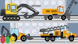 Lắp Ráp Xe 02: Máy Xúc Đất - Ủi Đất, Xe Cần Cẩu, Xe Khoan Bê Tông | TopKidsGames (TKG) 265