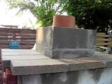 How To Build Outdoor Fireplace Part 2 Youtube