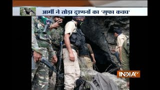 Indian army kill militants hiding in a mountain cave in Kashmir
