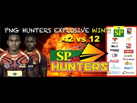THE PNG Hunters scored a comprehensive 42-12 win over Souths Logan Magpies in their round 14 Intrust Super Cup clash at Kalabond, Kokopo, on Saturday. When the skies opened up prior to kick...