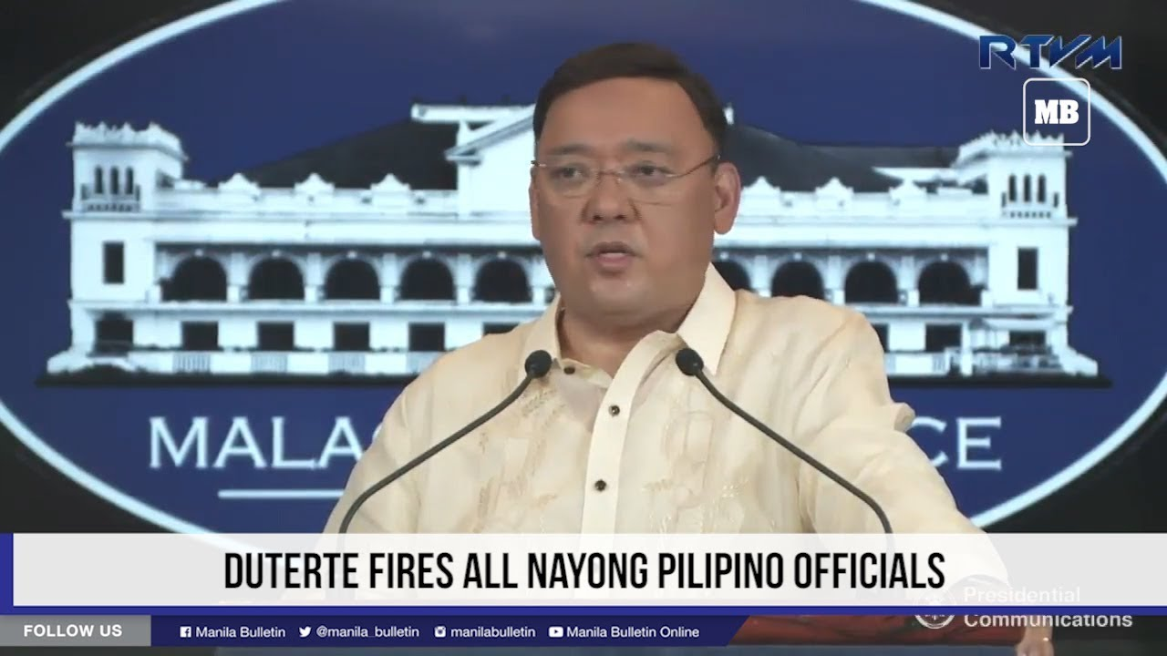 Duterte fires all Nayong Pilipino officials