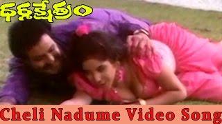 Cheli Nadume Andham Video Song ||   Dharamakshetram Movie || Balakrishna,Divya Bharati