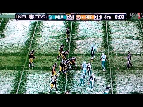 Steelers vs dolphins last play