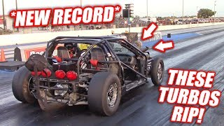 Tested Leroy's NEW Turbos... Ended Up Breaking Our Record! (Quickest Pass EVER!)