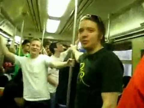 Acappella group Rick Roll's the NYC A Train.