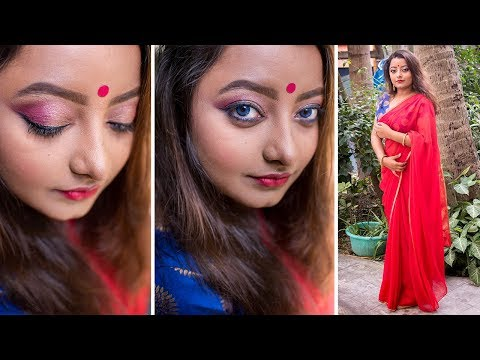 DIWALI MAKEUP LOOK 2018 | INDIAN FESTIVAL MAKEUP TUTORIAL | DUSKY SKIN
