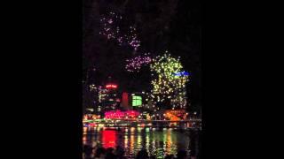 Riverfire 2012 Fireworks in Slow Motion 60fps 18