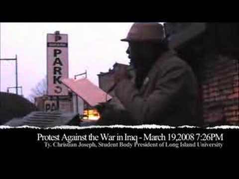 Anti-War Protest - Long Island University SGA President spea Video