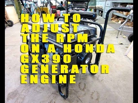 How To Adjust The RPM On A Honda GX390 Generator Engine