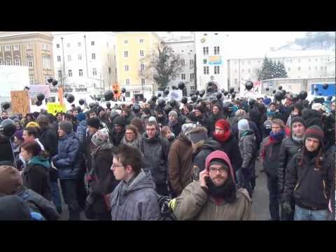 STOPP ACTA Demo vom 11.02.2012 in Salzburg (Bericht 2012)