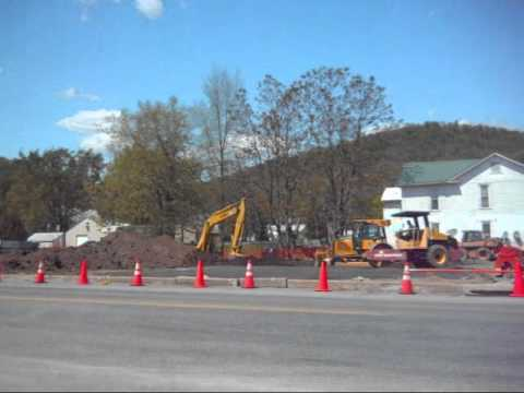 Contruction and trucks in McVeytown, PA 4-25-12