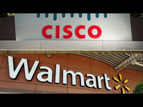 Cisco, Wal-Mart Take Down Stocks
