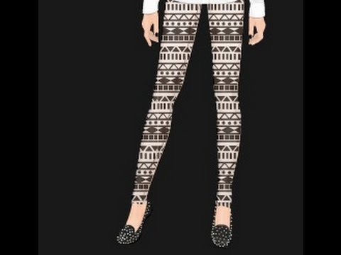 Stardoll: Cute Aztec Leggings Tutorial