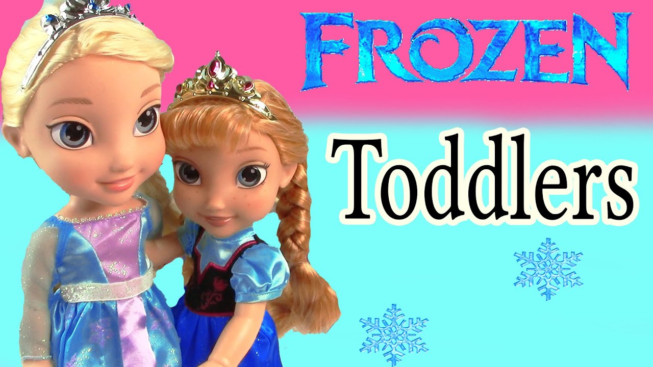 Disney Frozen Toddler Queen Elsa Amp Princess Anna Olaf Doll