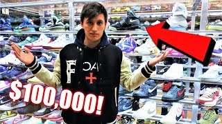 $100,000 SNEAKERS! SNEAKER SHOPPING AT FLIGHT CLUB!