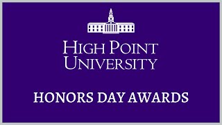 High Point University 2020 Honors Day Ceremony