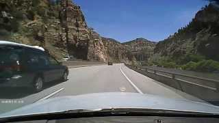 Driving the Colorado Rockies on I-70.  Western Slope headed east.