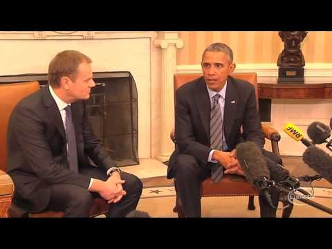 Russia wants to divide the west, Tusk tells Obama
