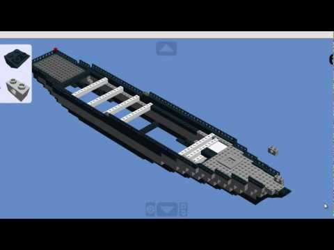 How to build a lego battleship