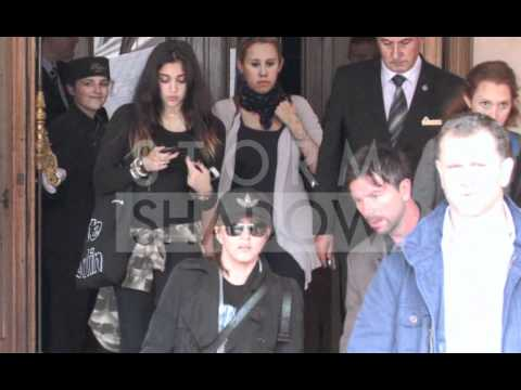 Madonna, Rocco and Lourdes Ciccone at Ritz Hotel