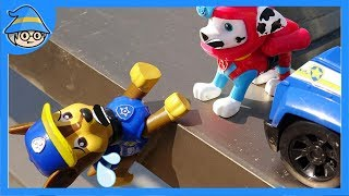Paw Patrol Chase fell to the ground. Paw Patrol mission rescue.