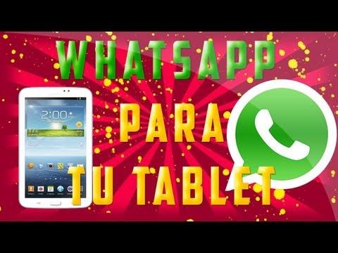 WhatsApp en tu Tablet   Sin Otras Aplicaciones   Galaxy Tab 3 - Español [MX]