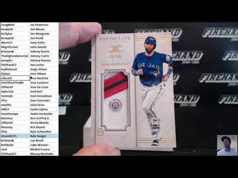 2017 Topps Definitive Baseball 3 Box Case Random Players #2 ~ 9/1/17
