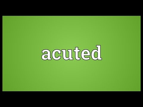 Header of acuted