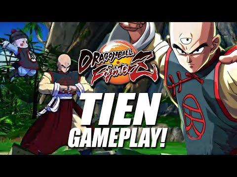 Dragon Ball FighterZ: NEW Tien Gameplay Walkthrough!!