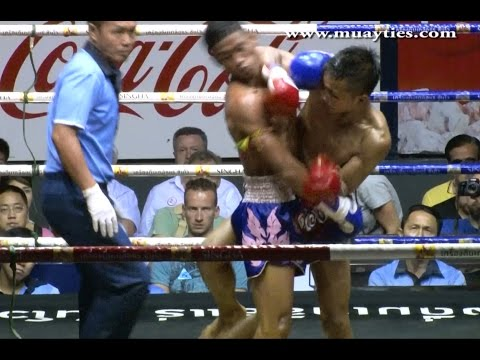 Muay Thai Fight – Lamnampong vs Yodmongkon – Rajadamnern Stadium Bangkok, 1st December 2014