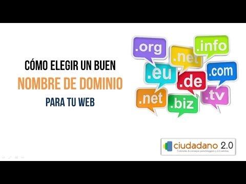 Registro de dominios: Cómo elegir un buen nombre de dominio para tu web (HD, 2014)