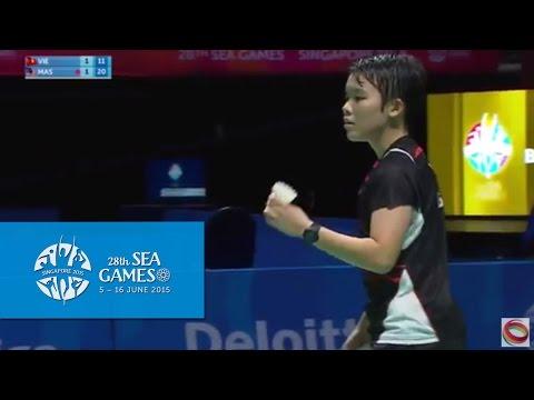 Badminton Women's Team Malaysia vs Vietnam Match 4 (Day 5) | 28th SEA Games Singapore 2015