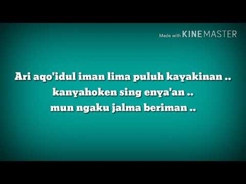 Aqo'id iman bahasa sunda sound & text