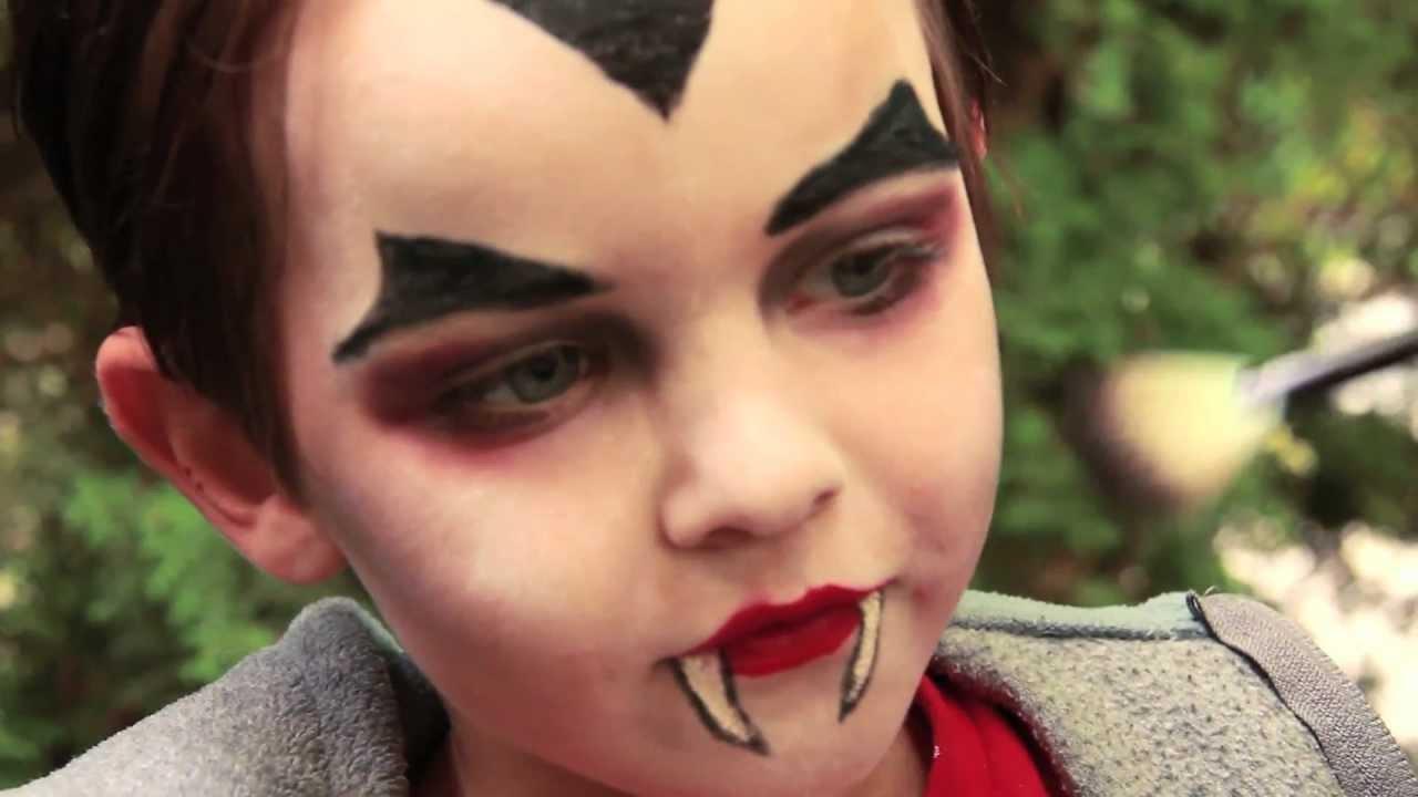 Dracula Vampire Makeup Tutorial Halloween  YouTube - Children'S Halloween Makeup