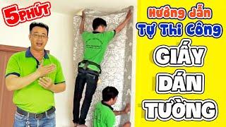 hướng dẫn thi công giấy dán tường