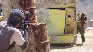 Paintball Mic'd Up | Magfed vs. Pump | Hollywood Sports