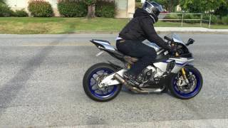 SC Projects CRT exhaust system sound test on a 2016 YAMAHA R1M