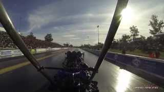 Top Fuel onboard with Anthony Begley @ 2014 Fuchs Winternationals