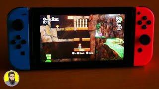 Super Mario Odyssey Switch 💙[Handheld Mode]🧡 GamePlay!