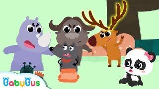★NEW★一起趕走可怕的大灰狼 | 動物兒歌 | 童謠 | 動畫 | 卡通 | 寶寶巴士 | 奇奇 | 妙妙